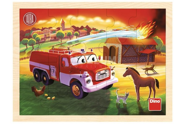 Dřevěné puzzle Tatra hasič