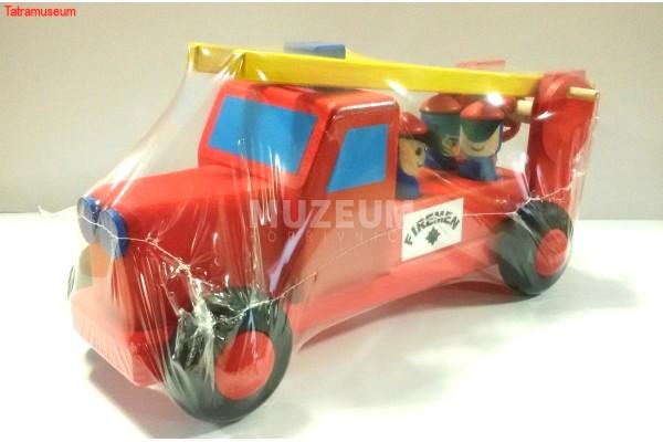 Dřevěná hračka - hasičské auto