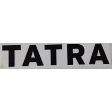 Nálepka nápis Tatra černobílá