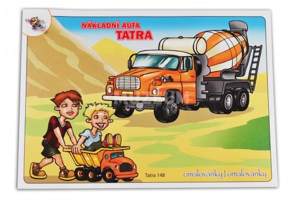 Omalovánka pro děti - náklaďáky
