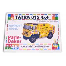 Vystřihovánka model Tatra Paris-Dakar