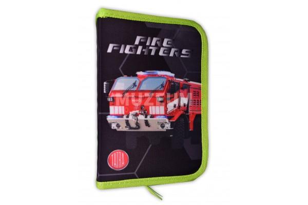 Školní penál s hasičskou Tatrou
