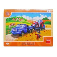 Dřevěné puzzle Tatra nákladní