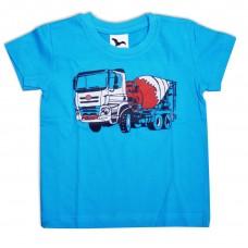 Dětské triko modré, domíchávač červený