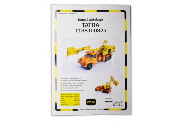 Papírový model lanový autobagr T 138 D-032a
