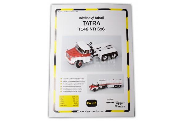 Papírový model návěsový tahač T 148 NTt 6x6