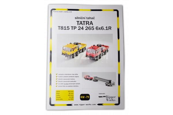 Papírový model silniční tahač T 815 TP 24 265 6x6