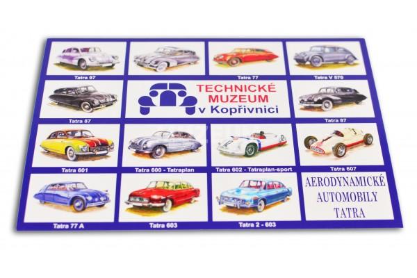 Pohlednice aerodynamické automobily Tatra mix