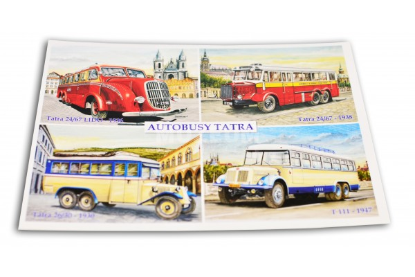 Pohlednice Autobusy Tatra