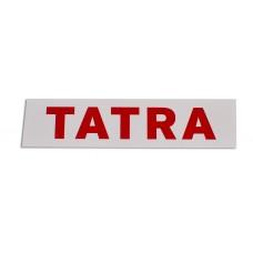 Nálepka s nápisem Tatra (červený nápis) - 15,5 cm
