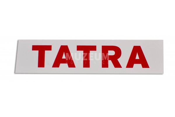 Nálepka s nápisem Tatra (červený nápis) - 9 cm