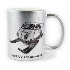 Hrnek TATRA V 755 Aerosaně - stříbrný