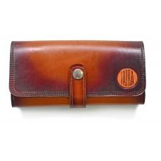 Dámská peněženka kožená, tmavě hnědá