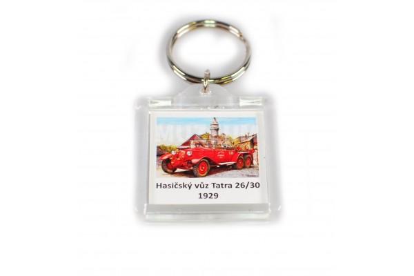 Klíčenka Hasičský vůz T26/30 1929 - plastová