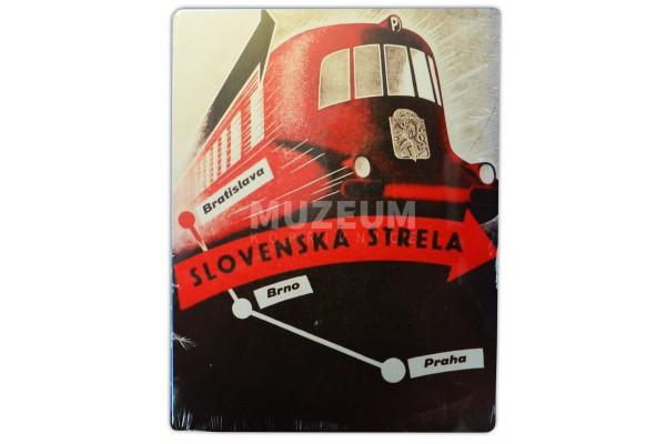Plechová cedule - Slovenská Strela (trasa)