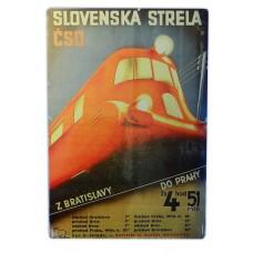 Plechová cedule Slovenská strela