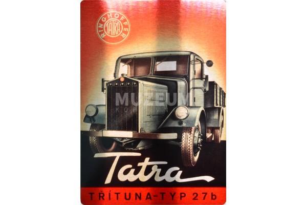 Plechová cedule nákladní vůz typu T 27 b