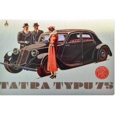 Plechová cedule Tatra typu 75