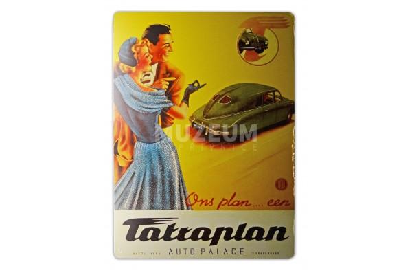 Plechová cedule Tatraplan