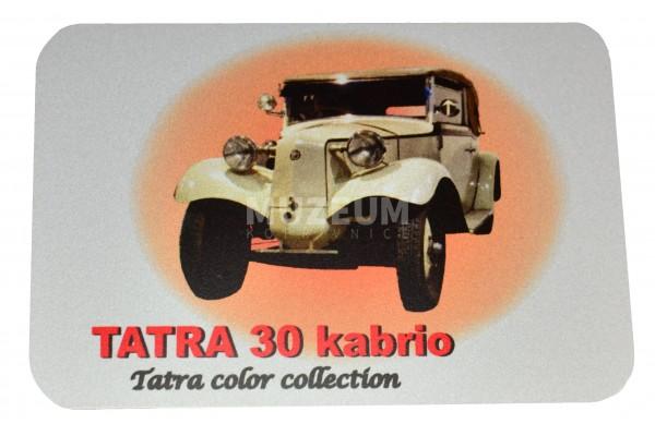 Magnetka plechová - Tatra 30 kabrio