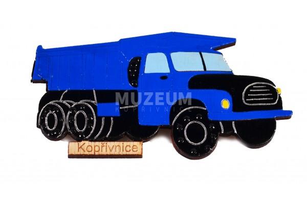 Magnetka dřevěná T148 modrá