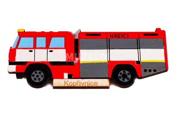 Magnetka dřevěná - hasič