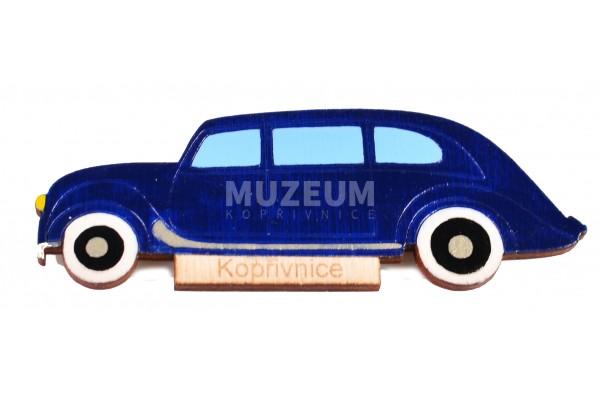 Magnetka dřevěná - tm. modrá Tatra 90