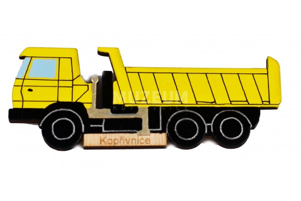 Dřevěná magnetka T815, žlutá