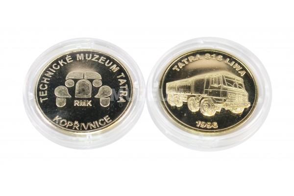 Mince nikl, motiv Tatra Liwa, rubová strana s logem muzea