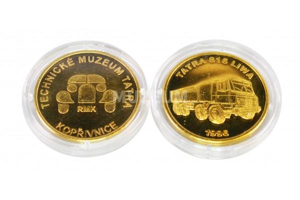 Mince mosaz, motiv Tatra Liwa, rubová strana s logem muzea