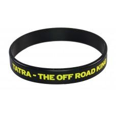 Silikonový náramek - Tatra the off road king černý, pro dospělý