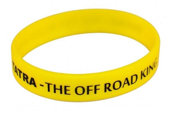 Silikonový náramek - žlutý, pro dospělé