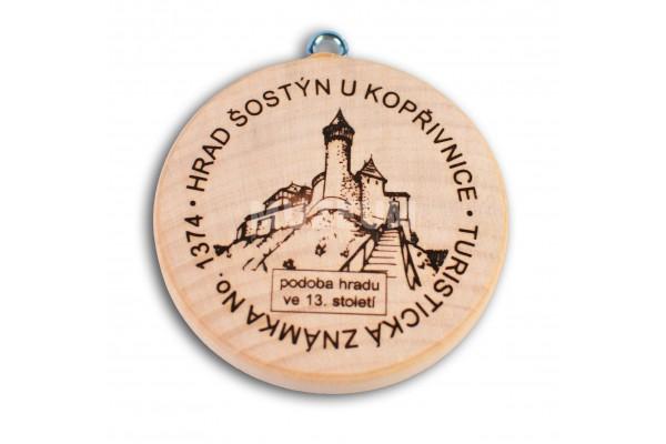 Turistická známka - hrad Šostýn