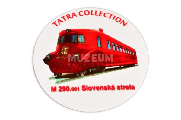 Pivní tácek - Slovenská Strela, korkový