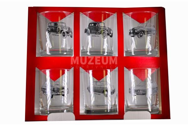 Sada sklenic osobních automobilů, obsahuje 6 whiskových sklenic