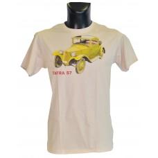 Pánské triko s žlutým potiskem T57