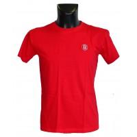 Pánské triko logo výšivka červené barvy - bavlna