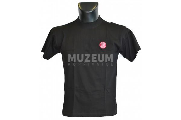 Pánské triko logo výšivka černé barvy - bavlna