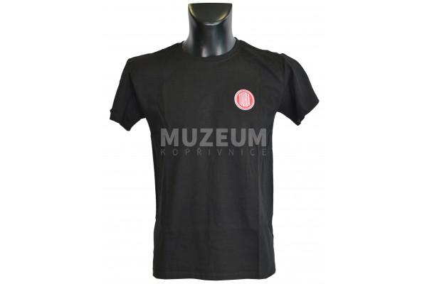 Pánské triko logo + nápis na zádech - černé