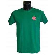 Pánské triko logo + nápis na zádech - zelené