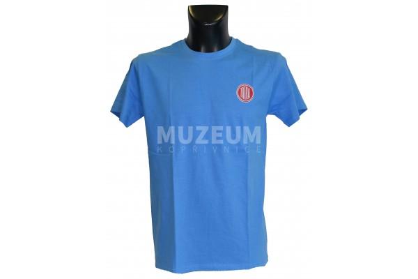 Triko logo + nápis na zádech - světle modré