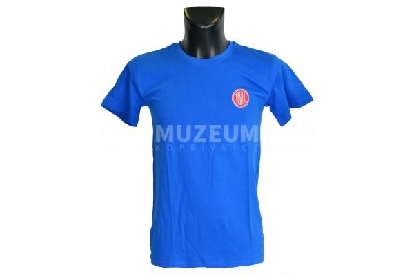 Triko logo + nápis na zádech -modré